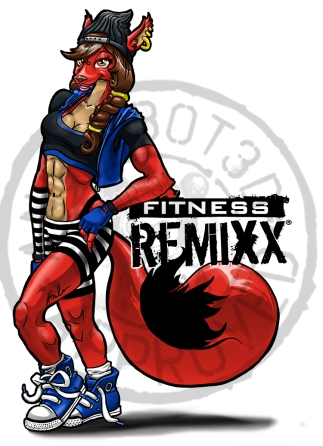 Fox Fitness Remixx Graphic