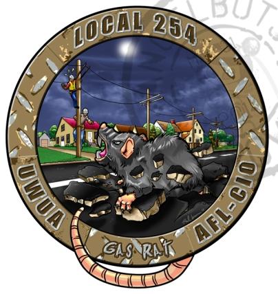 Gas Rat AFL-CIO Local 254 Graphic