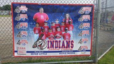 Indians Sandlot Baseball League Banner