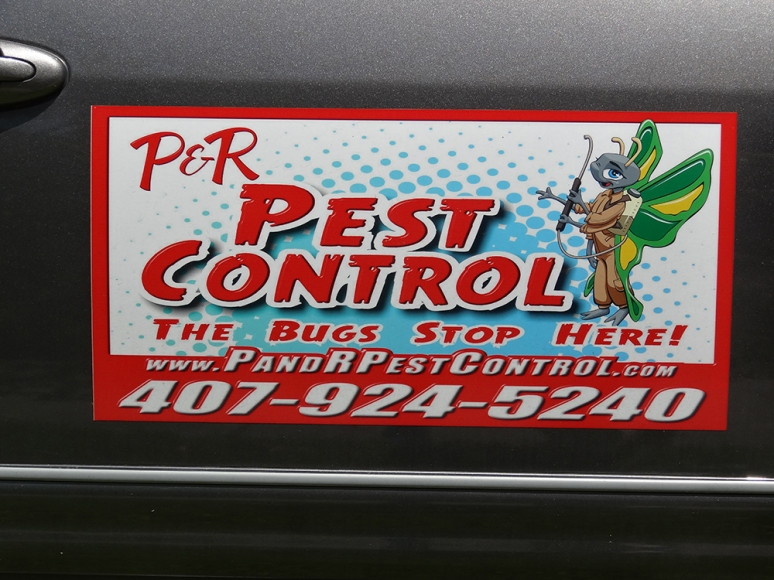 P&R Pest Control Car Magnet