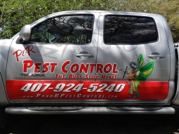 P&R Pest Control Truck Side Graphic